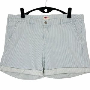 NWOT Levi's high waisted pale blue striped…